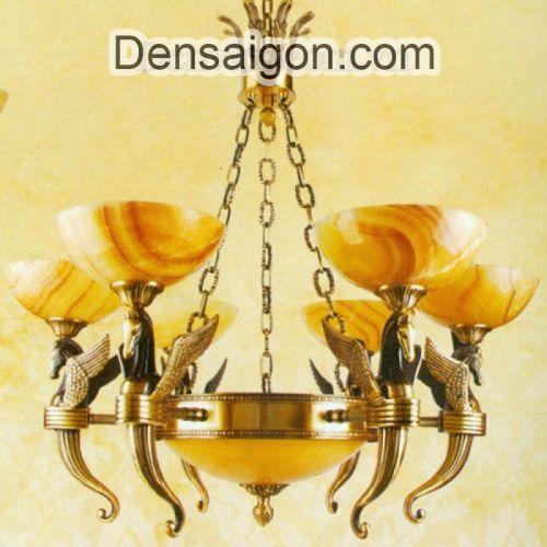 Đèn Chùm Đồng Chao Đá Đẹp Phong Cách Cổ Điển - Densaigon.com