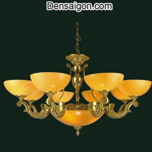 Đèn Chùm Đồng Chao Đá Đẹp Phong Cách Hoàng Gia - Densaigon.com
