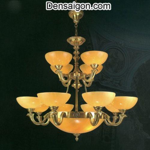 Đèn Chùm Đồng Chao Đá Phong Cách Nổi Bật - Densaigon.com