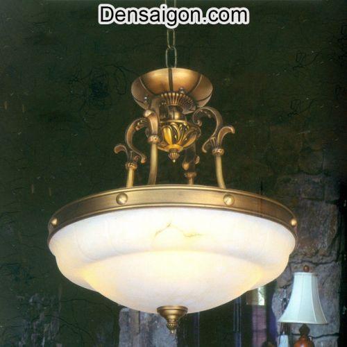 Đèn Chùm Đồng Chao Đá Trang Trí Đẹp - Densaigon.com