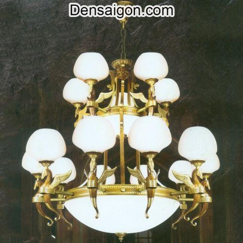 Đèn Chùm Đồng Cổ Điển Treo Khách Sạn - Densaigon.com