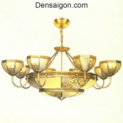 Đèn Chùm Đồng Đẹp Treo Phòng Khách - Densaigon.com