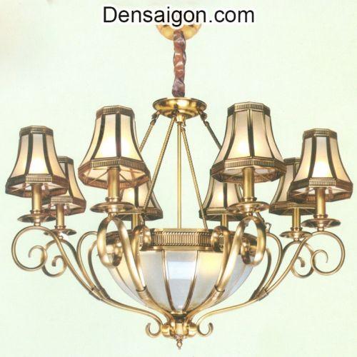 Đèn Chùm Đồng Treo Phòng Khách Đẹp - Densaigon.com