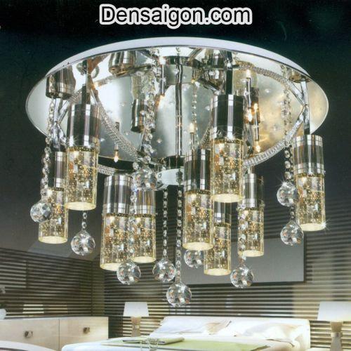 Đèn Chùm LED Pha Lê Cao Cấp Treo Phòng Khách - Densaigon.com