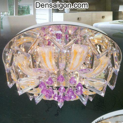 Đèn Chùm LED Pha Lê Đẹp Treo Phòng Khách - Densaigon.com