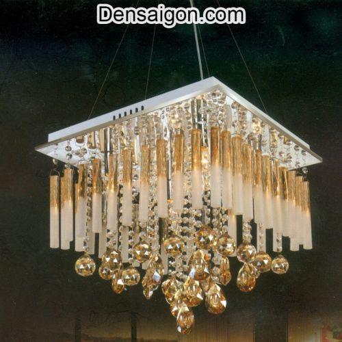 Đèn Chùm LED Pha Lê Lung Linh Treo Phòng Khách - Densaigon.com