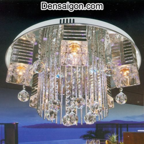 Đèn Chùm LED Pha Lê Thiết Kế Trang Nhã - Densaigon.com