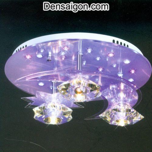 Đèn Chùm LED Pha Lê Trang Trí Phòng Khách - Densaigon.com