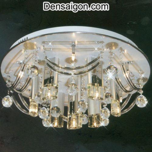 Đèn Chùm LED Pha Lê Treo Phòng Khách Đẹp - Densaigon.com