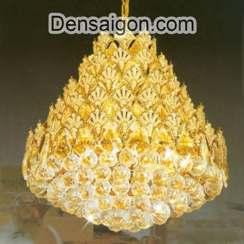 Đèn Chùm Pha Lê Dáng Đẹp Treo Phòng Khách - Densaigon.com
