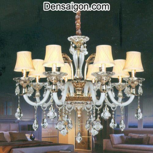Đèn Chùm Pha Lê Nến Đẹp Trang Trí Phòng Khách - Densaigon.com