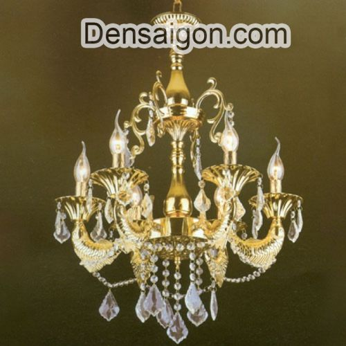 Đèn Chùm Pha Lê Nến Đẹp Treo Phòng Khách - Densaigon.com