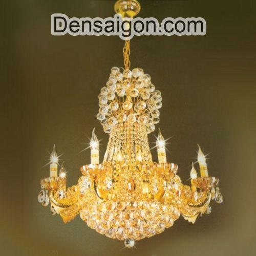 Đèn Chùm Pha Lê Nến Phong Cách Hoàng Gia - Densaigon.com