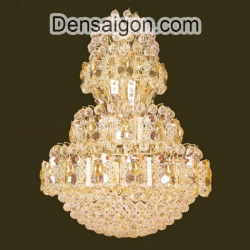 Đèn Chùm Pha Lê Phòng Khách Đẹp Kích Thước Lớn - Densaigon.com