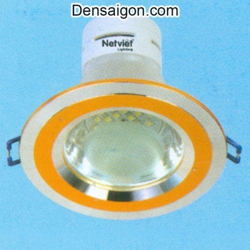 Đèn LED Mắt Ếch Hiện Đại Viền Vàng - Densaigon.com