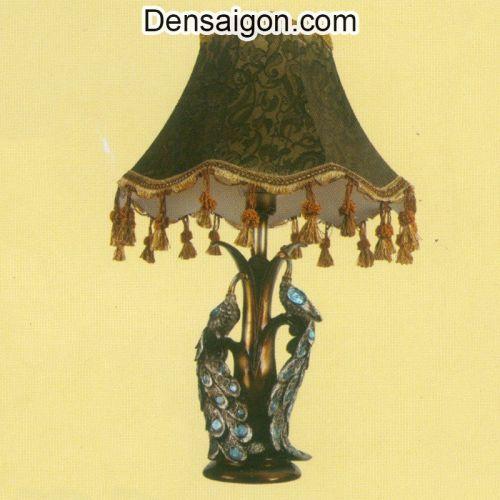 Đèn Ngủ Chụp Dù Đế Hình Con Công - Densaigon.com