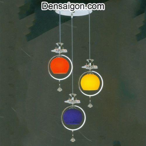 Đèn Thả Pha Lê 3 Màu Trẻ Trung - Densaigon.com