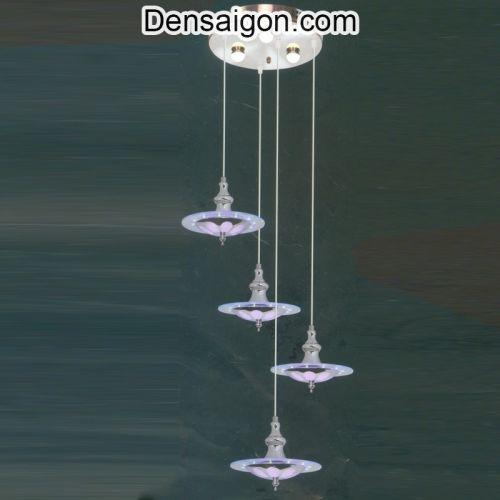 Đèn Thả Pha Lê Lãng Mạn Màu Tím - Densaigon.com