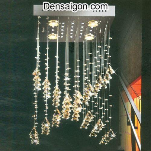 Đèn Thả Pha Lê Màu Vàng Sang Trọng - Densaigon.com