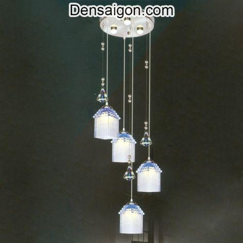 Đèn Thả Pha Lê Sắc Xanh Trẻ Trung - Densaigon.com