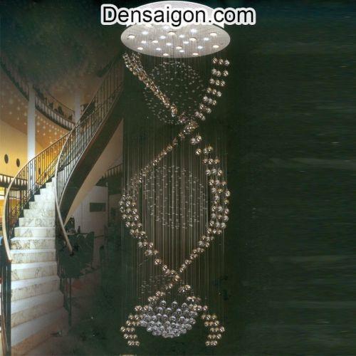 Đèn Thả Pha Lê Thông Tầng Đẹp - Densaigon.com