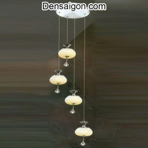 Đèn Thả Pha Lê Thông Tầng Phong Cách - Densaigon.com