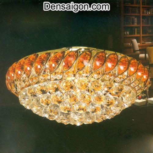 Đèn Trần Pha Lê LED Tinh Tế Treo Phòng Khách - Densaigon.com