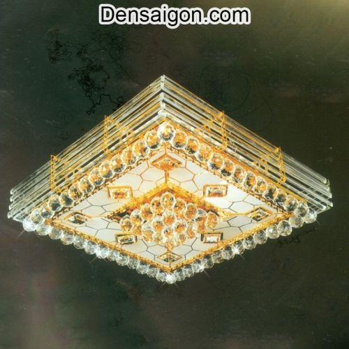 Đèn Trần Pha Lê LED Trang Trí Phòng Khách Đẹp - Densaigon.com