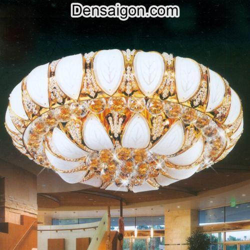 Đèn Trần Pha Lê LED Treo Phòng Khách - Densaigon.com