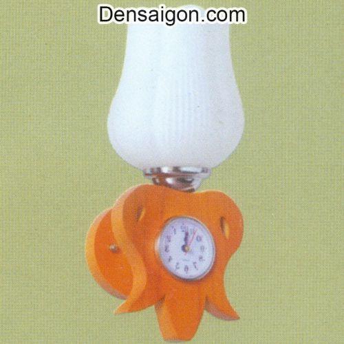 Đèn Tường Gỗ Kèm Đồng Hồ - Densaigon.com