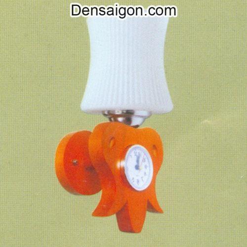 Đèn Tường Gỗ Kèm Đồng Hồ Đẹp - Densaigon.com