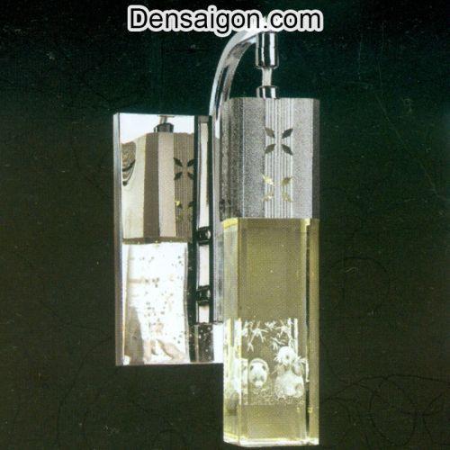 Đèn Tường Inox Hoa Văn Gấu Trúc - Densaigon.com