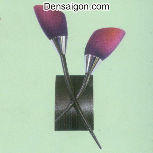 Đèn Tường Inox Màu Tím 2 Tay Đẹp - Densaigon.com