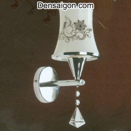 Đèn Tường Inox Màu Trắng Họa Tiết Hoa - Densaigon.com