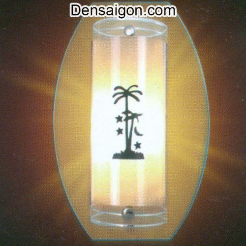 Đèn Tường Kiếng Hoa Văn Cây Dừa - Densaigon.com