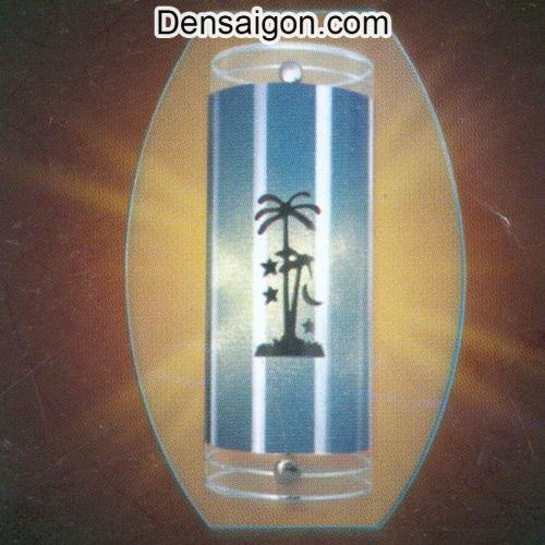 Đèn Tường Kiếng In Hình Cây Dừa - Densaigon.com