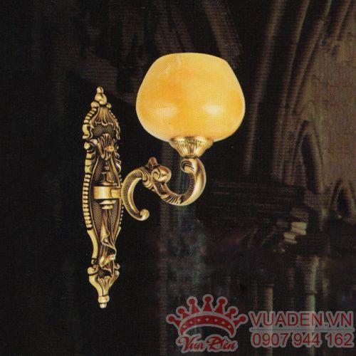 Đèn vách đồng trang trí hành lang chao đá loại 1 bóng - Densaigon.com