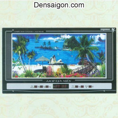 Tranh Đồng Hồ Phong Cảnh Biển - Densaigon.com