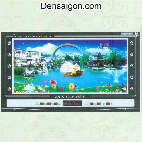 Tranh Đồng Hồ Phong Cảnh Đẹp Trang Trí - Densaigon.com