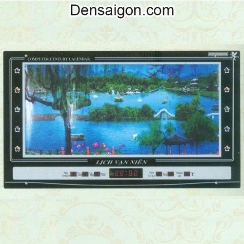 Tranh Đồng Hồ Phong Cảnh Hồ Nước Đẹp - Densaigon.com