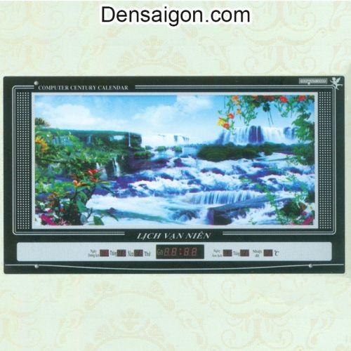 Tranh Đồng Hồ Phong Cảnh Thác Nước Đẹp - Densaigon.com
