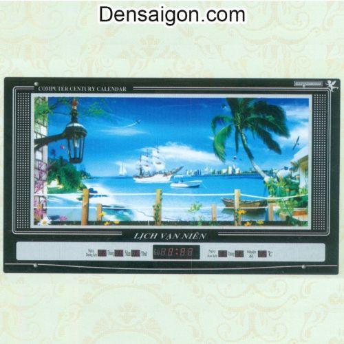 Tranh Đồng Hồ Phong Cảnh Treo Tường Đẹp - Densaigon.com