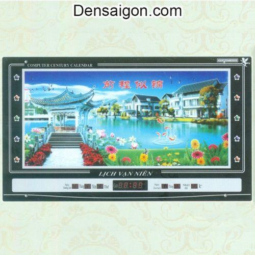 Tranh Đồng Hồ Phong Cảnh Tươi Sáng - Densaigon.com