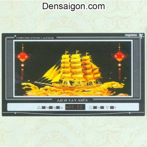 Tranh Đồng Hồ Thuyền Buồm Vàng - Densaigon.com