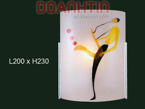 Đèn Tường Kiếng Thiết Kế Nhẹ Nhàng - Densaigon.com