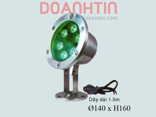 Đèn Pha Dưới Nước Màu Xanh Lá Thiết Kế Nổi Bật - Densaigon.com