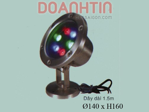 Đèn Pha Dưới Nước Đổi 3 Màu - Densaigon.com