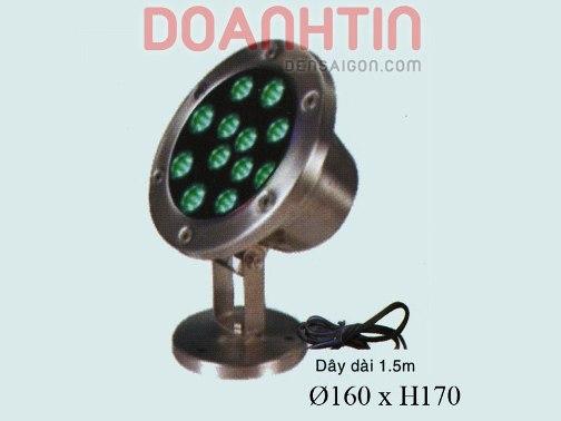Đèn Pha Trong Nước Màu Xanh Lá - Densaigon.com