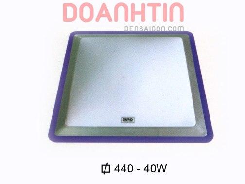 Đèn Áp Trần Hiện Đại Màu Xanh Hình Vuông Bóng LED - Densaigon.com