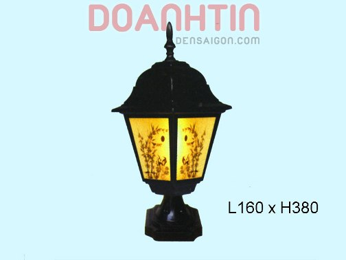 Đèn Gắn Cổng Thiết Kế Cầu Kỳ - Densaigon.com